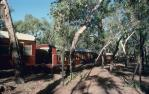 "<span class=""caption-caption"">Lava Lodge train accommodation, Etheridge Shire</span>, 1990. <br />Slide, collection of <span class=""caption-contributor"">Ruth Read</span>."