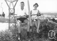 "<span class=""caption-caption"">Chairlift, Miami</span>, 1966. <br />Photograph, collection of <span class=""caption-contributor"">Centre for the Government of Queensland MS</span>."