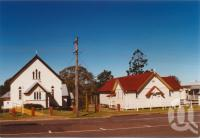 "<span class=""caption-caption"">Uniting Church and Masonic Lodge, Nanango</span>, 2003. <br />Photograph, collection of <span class=""caption-contributor"">John Young</span>."