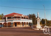 "<span class=""caption-caption"">Blackbutt Hotel and war memorial</span>, 2003. <br />Photograph, collection of <span class=""caption-contributor"">John Young</span>."
