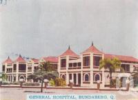 "<span class=""caption-caption"">General Hospital, Bundaberg</span>, c1938. <br />Postcard folder by <span class=""caption-publisher"">Murray Views Pty Ltd</span>, collection of <span class=""caption-contributor"">Centre for the Government of Queensland</span>."