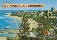 "<span class=""caption-caption"">Overlooking the swimming pool at King's Beach, Caloundra</span>, c1970. <br />Postcard by <span class=""caption-publisher"">Bernard Kuskopf</span>, collection of <span class=""caption-contributor"">Centre for the Government of Queensland</span>."