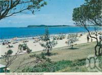 "<span class=""caption-caption"">Mooloolaba Beach and Point Cartwright</span>, c1964. <br />Postcard folder by <span class=""caption-publisher"">Bernard Kuskopf</span>, collection of <span class=""caption-contributor"">Centre for the Government of Queensland</span>."