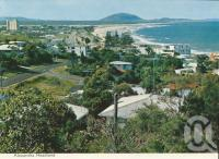 "<span class=""caption-caption"">Alexandra Headland</span>, c1964. <br />Postcard folder by <span class=""caption-publisher"">Bernard Kuskopf</span>, collection of <span class=""caption-contributor"">Centre for the Government of Queensland</span>."