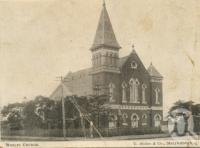 "<span class=""caption-caption"">Wesley Church, Maryborough</span>, 1903. <br />Postcard by <span class=""caption-publisher"">Graphic</span>, collection of <span class=""caption-contributor"">Centre for the Government of Queensland</span>."