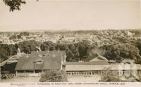 "<span class=""caption-caption"">Panorama of main city area from Cunningham's Knoll, Ipswich</span>, c1950. <br />Postcard by <span class=""caption-publisher"">Sidues Series</span>, collection of <span class=""caption-contributor"">Centre for the Government of Queensland</span>."