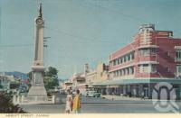 "<span class=""caption-caption"">Abbott Street, Cairns</span>, c1964. <br />Postcard folder by <span class=""caption-publisher"">John Sands Pty Ltd</span>, collection of <span class=""caption-contributor"">Centre for the Government of Queensland</span>."