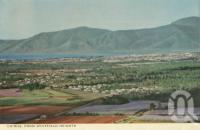 "<span class=""caption-caption"">Cairns from Whitfield Heights</span>, c1964. <br />Postcard folder by <span class=""caption-publisher"">John Sands Pty Ltd</span>, collection of <span class=""caption-contributor"">Centre for the Government of Queensland</span>."