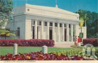 "<span class=""caption-caption"">Cairns City Council Chambers</span>, c1964. <br />Postcard folder by <span class=""caption-publisher"">John Sands Pty Ltd</span>, collection of <span class=""caption-contributor"">Centre for the Government of Queensland</span>."