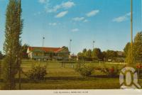 "<span class=""caption-caption"">Blackall Bowling Club</span>, c1964. <br />Postcard folder by <span class=""caption-publisher"">Sydney G Hughes Pty Ltd</span>, collection of <span class=""caption-contributor"">Centre for the Government of Queensland</span>."