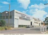 "<span class=""caption-caption"">Ginger factory, Buderim</span>, c1970. <br />Postcard folder by <span class=""caption-publisher"">Bernard Kuskopf</span>, collection of <span class=""caption-contributor"">Centre for the Government of Queensland</span>."