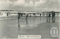 "<span class=""caption-caption"">Beach, Maroochydore</span>, c1930. <br />Postcard folder by <span class=""caption-publisher"">Unknown Publisher</span>, collection of <span class=""caption-contributor"">Centre for the Government of Queensland</span>."