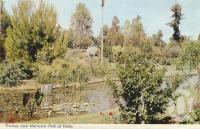 "<span class=""caption-caption"">Thomas Jack memorial park at Dalby</span>, 1972. <br />Postcard folder by <span class=""caption-publisher"">Samuel Lee & Co Pty Ltd</span>, collection of <span class=""caption-contributor"">Centre for the Government of Queensland</span>."