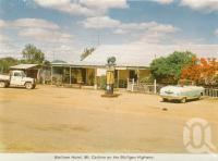 "<span class=""caption-caption"">Wolfram Hotel, Mt Carbine on the Mulligan Highway</span>, c1964. <br />Postcard folder by <span class=""caption-publisher"">Unknown Publisher</span>, collection of <span class=""caption-contributor"">Centre for the Government of Queensland</span>."