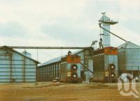 "<span class=""caption-caption"">Storage sheds at Lakeland</span>, c1964. <br />Postcard folder by <span class=""caption-publisher"">Unknown Publisher</span>, collection of <span class=""caption-contributor"">Centre for the Government of Queensland</span>."