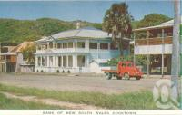 "<span class=""caption-caption"">Bank of New South Wales Cooktown</span>, c1960. <br />Postcard folder by <span class=""caption-publisher"">Unknown Publisher</span>, collection of <span class=""caption-contributor"">Centre for the Government of Queensland</span>."
