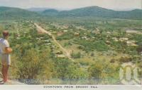 "<span class=""caption-caption"">Cooktown from Grassy Hill</span>, c1960. <br />Postcard folder by <span class=""caption-publisher"">Unknown Publisher</span>, collection of <span class=""caption-contributor"">Centre for the Government of Queensland</span>."