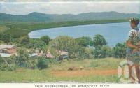 "<span class=""caption-caption"">View overlooking the Endeavour River, Cooktown</span>, c1960. <br />Postcard folder by <span class=""caption-publisher"">Unknown Publisher</span>, collection of <span class=""caption-contributor"">Centre for the Government of Queensland</span>."