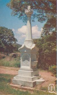 "<span class=""caption-caption"">The Monument to Mrs Watson, Cooktown</span>, c1960. <br />Postcard folder by <span class=""caption-publisher"">Unknown Publisher</span>, collection of <span class=""caption-contributor"">Centre for the Government of Queensland</span>."