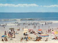 "<span class=""caption-caption"">Moreton Island from Woorim, Bribie Island</span>, 1975. <br />Postcard folder by <span class=""caption-publisher"">Bernard Kuskopf</span>, collection of <span class=""caption-contributor"">Centre for the Government of Queensland</span>."