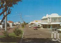 "<span class=""caption-caption"">Herbert Street, Bowen</span>, c1980. <br />Postcard folder by <span class=""caption-publisher"">Murray Views Pty Ltd</span>, collection of <span class=""caption-contributor"">Centre for the Government of Queensland</span>."