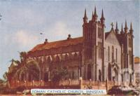 "<span class=""caption-caption"">Roman Catholic Church, Innisfail</span>, c1952. <br />Postcard folder by <span class=""caption-publisher"">Murray Studios Pty Ltd</span>, collection of <span class=""caption-contributor"">Centre for the Government of Queensland</span>."
