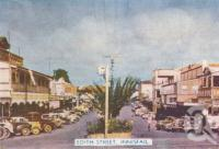 "<span class=""caption-caption"">Edith Street, Innisfail</span>, c1952. <br />Postcard folder by <span class=""caption-publisher"">Murray Studios Pty Ltd</span>, collection of <span class=""caption-contributor"">Centre for the Government of Queensland</span>."