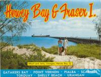 """<span class=""""caption-caption"""">Wharf and jetty, Urangan, Hervey Bay</span>, c1970. <br />Postcard folder by <span class=""""caption-publisher"""">Murray Views Pty Ltd</span>, collection of <span class=""""caption-contributor"""">Centre for the Government of Queensland</span>."""