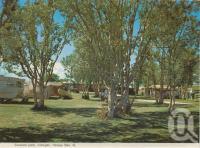 "<span class=""caption-caption"">Caravan park, Urangan, Hervey Bay</span>, c1970. <br />Postcard folder by <span class=""caption-publisher"">Murray Views Pty Ltd</span>, collection of <span class=""caption-contributor"">Centre for the Government of Queensland</span>."