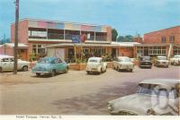 "<span class=""caption-caption"">Hotel Torquay, Hervey Bay</span>, c1960. <br />Postcard folder by <span class=""caption-publisher"">Murray Views Pty Ltd</span>, collection of <span class=""caption-contributor"">Centre for the Government of Queensland</span>."