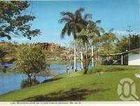 "<span class=""caption-caption"">Lake Moondarra kiosk, Mount Isa</span>, c1966. <br />Postcard folder by <span class=""caption-publisher"">Murray Views Pty Ltd</span>, collection of <span class=""caption-contributor"">Centre for the Government of Queensland</span>."