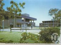 "<span class=""caption-caption"">The Civic Centre, Mount Isa</span>, c1966. <br />Postcard folder by <span class=""caption-publisher"">Murray Views Pty Ltd</span>, collection of <span class=""caption-contributor"">Centre for the Government of Queensland</span>."