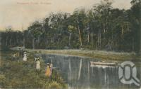 "<span class=""caption-caption"">Enoggera Creek</span>, 1907. <br />Postcard by <span class=""caption-publisher"">Unknown Publisher</span>, collection of <span class=""caption-contributor"">John Young</span>."