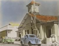 "<span class=""caption-caption"">Post Office, Gladstone</span>, c1935. <br />Postcard by <span class=""caption-publisher"">Unknown Publisher</span>, collection of <span class=""caption-contributor"">John Young</span>."