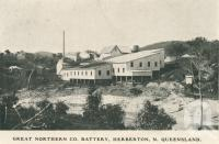 "<span class=""caption-caption"">Great Northern Company Battery, Herberton</span>, 1912. <br />Postcard by <span class=""caption-publisher"">Unknown Publisher</span>, collection of <span class=""caption-contributor"">John Young</span>."
