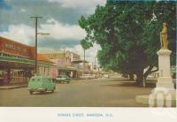"<span class=""caption-caption"">Byrnes Street, Mareeba</span>, c1961. <br />Postcard folder by <span class=""caption-publisher"">GK Bolton</span>, collection of <span class=""caption-contributor"">John Young</span>."