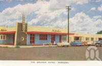 "<span class=""caption-caption"">The Graham Hotel, Mareeba</span>, c1961. <br />Postcard folder by <span class=""caption-publisher"">GK Bolton</span>, collection of <span class=""caption-contributor"">John Young</span>."
