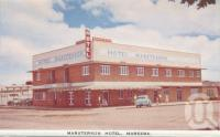 "<span class=""caption-caption"">Masterson Hotel, Mareeba</span>, c1961. <br />Postcard folder by <span class=""caption-publisher"">GK Bolton</span>, collection of <span class=""caption-contributor"">John Young</span>."