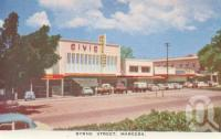 "<span class=""caption-caption"">Byrne Street, Mareeba</span>, c1961. <br />Postcard folder by <span class=""caption-publisher"">GK Bolton</span>, collection of <span class=""caption-contributor"">John Young</span>."