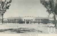 "<span class=""caption-caption"">Charleville base hospital</span>, c1958. <br />Postcard folder by <span class=""caption-publisher"">Murray Views Pty Ltd</span>, collection of <span class=""caption-contributor"">John Young</span>."