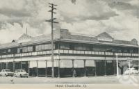 "<span class=""caption-caption"">Hotel Charleville</span>, c1958. <br />Postcard folder by <span class=""caption-publisher"">Murray Views Pty Ltd</span>, collection of <span class=""caption-contributor"">John Young</span>."