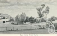 "<span class=""caption-caption"">Race course, Charleville</span>, c1958. <br />Postcard folder by <span class=""caption-publisher"">Murray Views Pty Ltd</span>, collection of <span class=""caption-contributor"">John Young</span>."