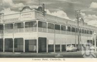 "<span class=""caption-caption"">Corones Hotel, Charleville</span>, c1958. <br />Postcard folder by <span class=""caption-publisher"">Murray Views Pty Ltd</span>, collection of <span class=""caption-contributor"">John Young</span>."