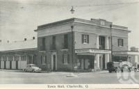 "<span class=""caption-caption"">Town hall, Charleville</span>, c1958. <br />Postcard folder by <span class=""caption-publisher"">Murray Views Pty Ltd</span>, collection of <span class=""caption-contributor"">John Young</span>."