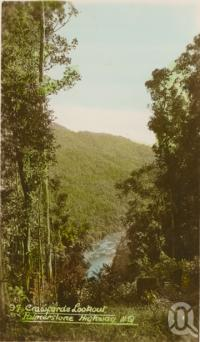 "<span class=""caption-caption"">Crawford's Lookout, Atherton Tablelands</span>, c1928. <br />Postcard by <span class=""caption-publisher"">Unknown Publisher</span>, collection of <span class=""caption-contributor"">John Young</span>."
