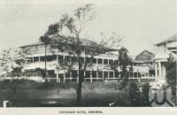 "<span class=""caption-caption"">Exchange Hotel, Innisfail</span>, c1958. <br />Postcard folder by <span class=""caption-publisher"">Murray Views Pty Ltd</span>, collection of <span class=""caption-contributor"">John Young</span>."