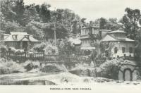 "<span class=""caption-caption"">Paronella Park, near Innisfail</span>, c1958. <br />Postcard folder by <span class=""caption-publisher"">Murray Views Pty Ltd</span>, collection of <span class=""caption-contributor"">John Young</span>."