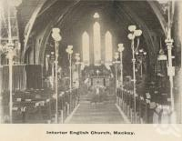 "<span class=""caption-caption"">Interior English Church, Mackay</span>, c1908. <br />Postcard folder by <span class=""caption-publisher"">GC Wood</span>, collection of <span class=""caption-contributor"">John Young</span>."