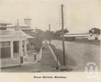 "<span class=""caption-caption"">River Street Mackay</span>, c1908. <br />Postcard folder by <span class=""caption-publisher"">GC Wood</span>, collection of <span class=""caption-contributor"">John Young</span>."