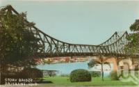 "<span class=""caption-caption"">Story Bridge, Brisbane</span>, c1938. <br />Postcard by <span class=""caption-publisher"">Brisbane Postcards</span>, collection of <span class=""caption-contributor"">Centre for the Government of Queensland</span>."